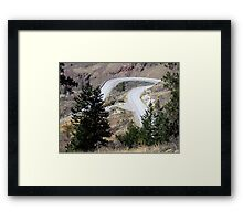 Road with a Twist Framed Print