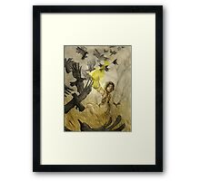 Field of Crows Framed Print