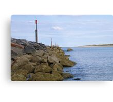 Norfolk Breakwater Metal Print