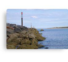 Norfolk Breakwater Canvas Print