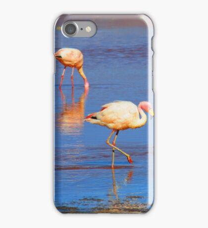 Flamingos in Salar de Uyuni iPhone Case/Skin