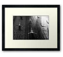 Silver Skyfall Framed Print