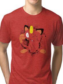 Meowth Splatter Tri-blend T-Shirt