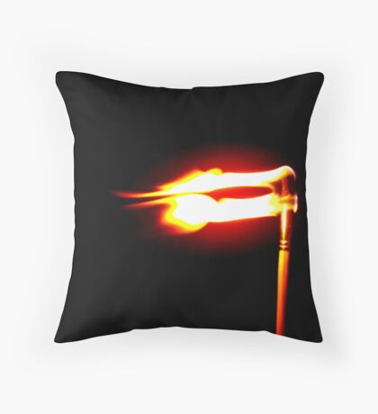 Flame Three Throw Pillow