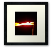 Flame Four Framed Print