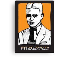 F Scott Fitzgerald 1920s Portrait  Canvas Print