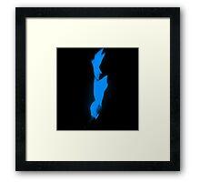 Flame Seven Framed Print