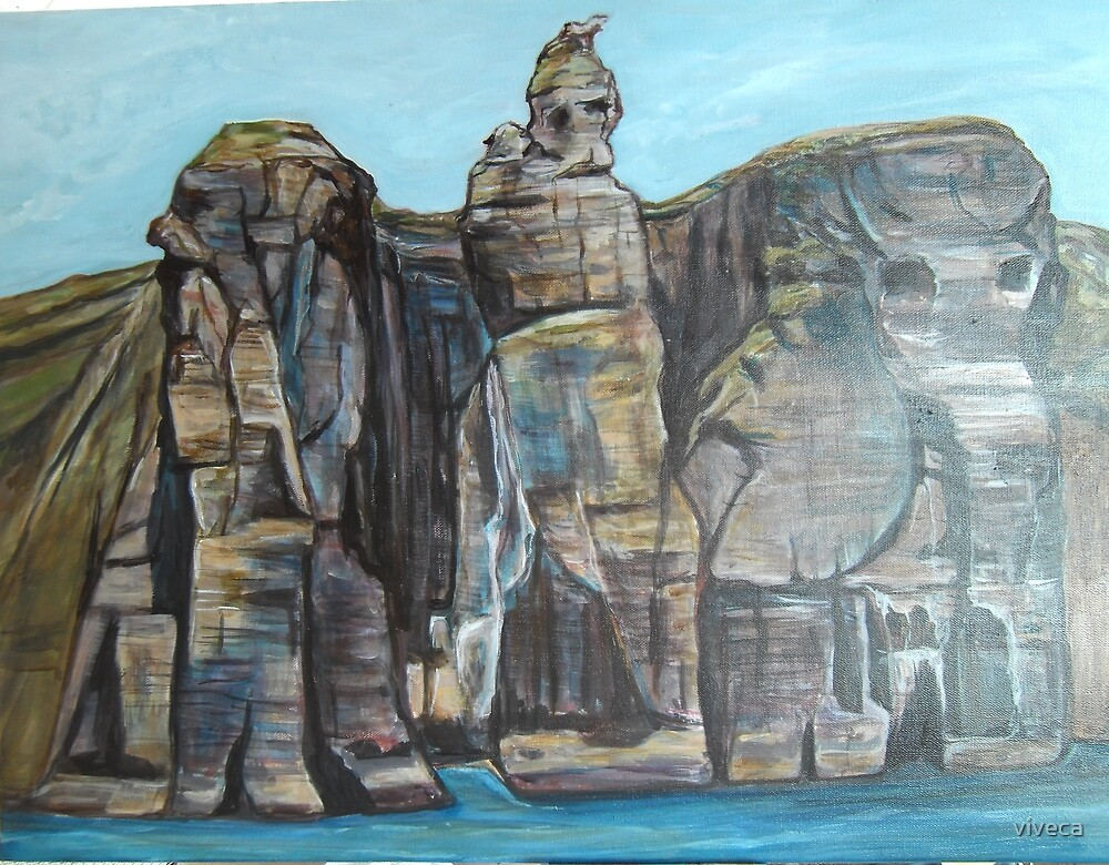 Giants in the Cliffs by viveca