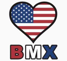 USA Heart BMX Kids Clothes