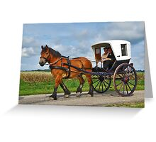 Together in a carriage Greeting Card