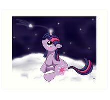 Snowy Constellations - Twilight Sparkle Art Print