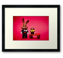 Don't Be The Bunny Framed Print