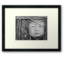 Rock, Scissors, Paper Assemblage Framed Print
