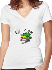 Dead Link  Women's Fitted V-Neck T-Shirt
