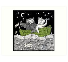 The Owl & The Pussycat Went to Sea Art Print