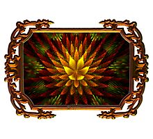 Autumn Botanical in Molten Frame Photographic Print