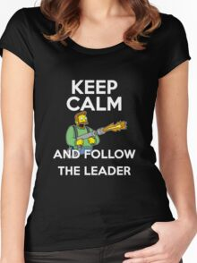 Keep Calm and follow the leader. Women's Fitted Scoop T-Shirt