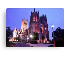 Twilight - National Cathedral Canvas Print