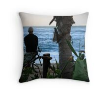 North Shore Surf Check Throw Pillow