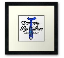 Pop-Culture Savy Framed Print