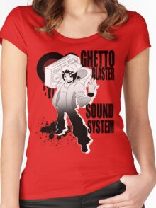Ghetto Blaster Sound System Women's Fitted Scoop T-Shirt