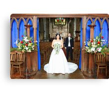 Presenting and Bride & Groom Canvas Print
