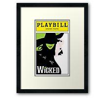 Wicked Playbill Framed Print
