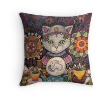 Madame Kitty Throw Pillow