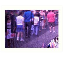 Passing the Wall of Remembrance - Vietnam Veteran's Memorial Art Print