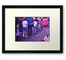Passing the Wall of Remembrance - Vietnam Veteran's Memorial Framed Print