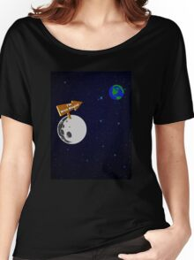 The Moon is with Stupid  Women's Relaxed Fit T-Shirt
