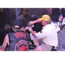 Remembering those who served - Vietnam Veteran's Memorial Photographic Print