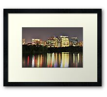 Office Buildings at Night - Rosslyn, Virginia Framed Print