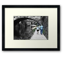 Strolling on the C&O Canal - Georgetown Framed Print