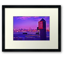 New York City skyline at sunset Framed Print