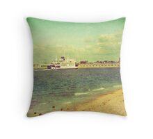 Vintage Portsmouth, UK Throw Pillow
