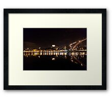 Night at Oporto's Douro Riverside, Portugal Framed Print