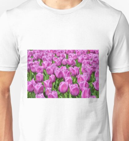 Purple Tulips Unisex T-Shirt