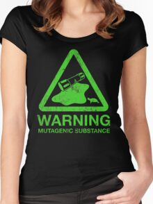 The Danger of the Ooze Women's Fitted Scoop T-Shirt