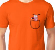 Pocket Courage Dog. Unisex T-Shirt