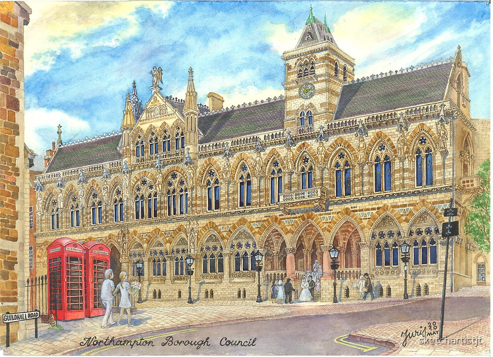 Guild Hall, Northampton, UK by sketchartistjt
