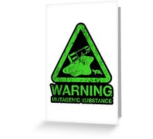 Sticker! The Danger of the Ooze Greeting Card