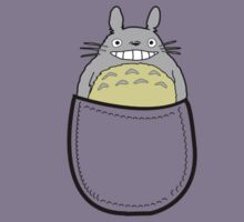 Pocket totoro. Anime Kids Tee