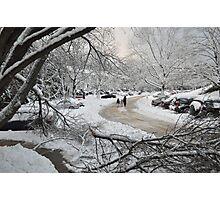 Snowstorm - Burke, Virginia Photographic Print