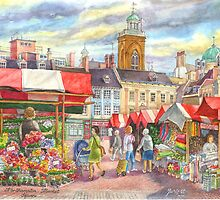 Market place, Northampton, UK by sketchartistjt