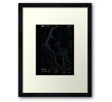 USGS Topo Map Oregon Red Bank Lakes 20110902 TM Inverted Framed Print