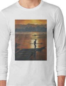 sailing in sunset Long Sleeve T-Shirt