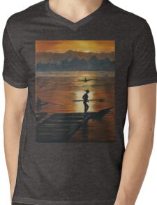 sailing in sunset Mens V-Neck T-Shirt