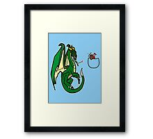 Dragons and Knights Framed Print