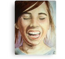 I Love to Laugh Canvas Print